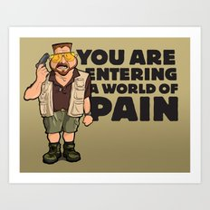 A World of Pain Art Print