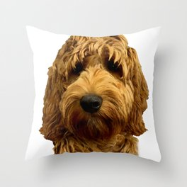Red Cockapoo / Doodle Dog  Throw Pillow