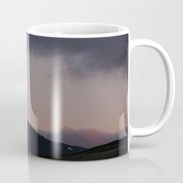 Moon over blackness and red pink ice Coffee Mug