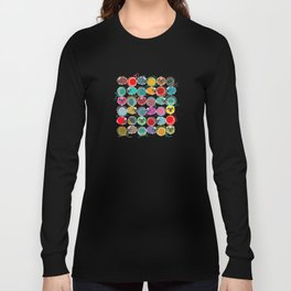 Bright Sheep and Yarn Pattern Long Sleeve T-shirt