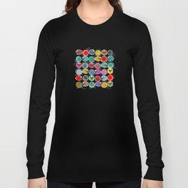 Bright Sheep and Yarn Pattern Long Sleeve T-shirt