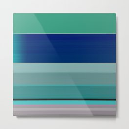 Threshold of Seas Linear Abstract Metal Print