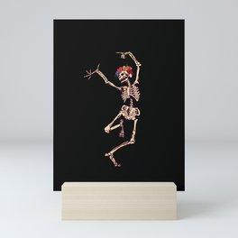 CALAVERA SUGAR SKULL SKELETON DANCING Mini Art Print