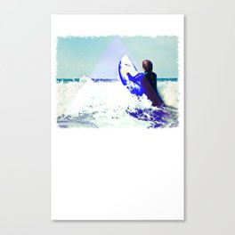 Surfing Devon Canvas Print