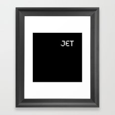 Jet (BLCK #5) Framed Art Print