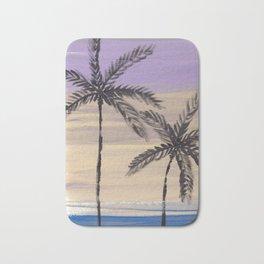two palm trees euphoric sky Bath Mat