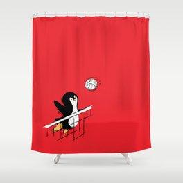 Flying Penguins Shower Curtain