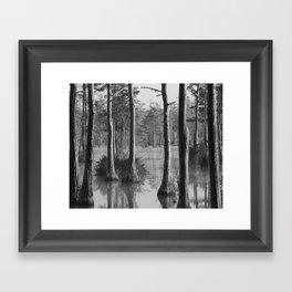 Adams Mill Pond Panorama 09 B&W Framed Art Print