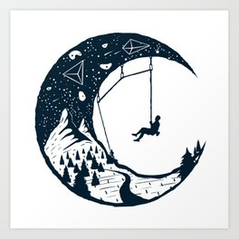 Climber's Sky | Rock Climbing Art Print