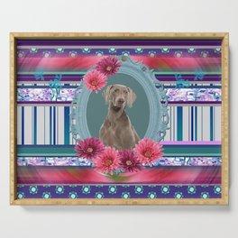 Weimaraner Dog Frame Serving Tray