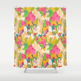 Ikat Floral Shower Curtain