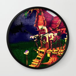 litle witch Wall Clock