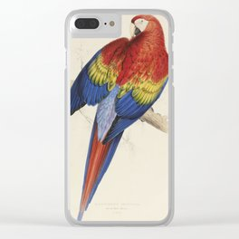 Vintage Illustration of a Macaw Parrot (1832) Clear iPhone Case