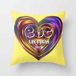 Electric Daisy Carnival Heart Throw Pillow