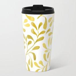 Golden Leaves Travel Mug