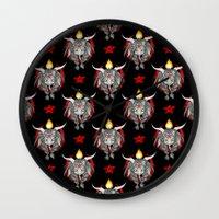 baphomet Wall Clocks featuring Baphomet V1 by Savannah Horrocks