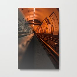 Orange Visions - LG Metal Print