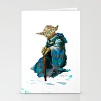 yoda Stationery Cards featuring Yoda by pabpaint