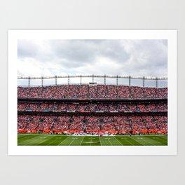 Blue & Orange Art Print
