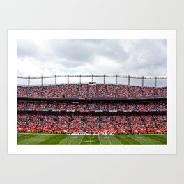 Blue & Orange Art Print