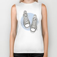 converse Biker Tanks featuring Converse by maeveelectro