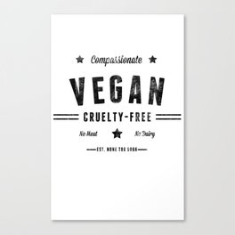 """Vintage Vegan"" by Ben Capozzi Canvas Print"