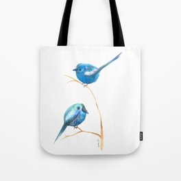 Pajaritos azules /blue birds Tote Bag