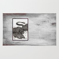 toothless Area & Throw Rugs featuring Toothless by SpaceMonolith