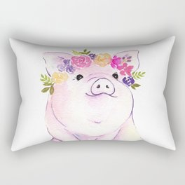 Piglet watercolor Rectangular Pillow