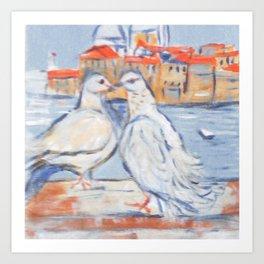 Venetian Love. Art Print