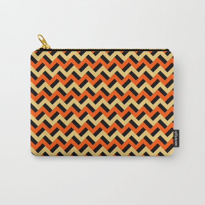 Pumpkinesque zigzags Carry-All Pouch
