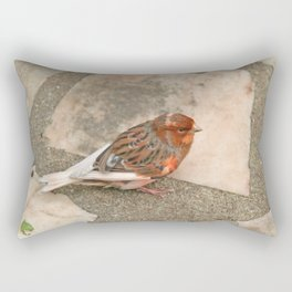 Lovely runaway canary bird Rectangular Pillow