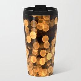 Golden Bokeh Light On A Black Background #decor #society6 Metal Travel Mug