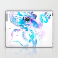 Turquoise Violet Octopus Laptop & iPad Skin
