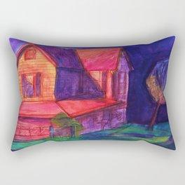 Neon Dream House Rectangular Pillow