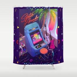 Synth Arcade Shower Curtain