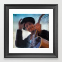 Bob Dylan - Nashville Skyline - Pixel Framed Art Print