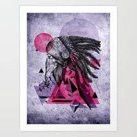 indian Art Prints featuring Indian by Marlon Hammes