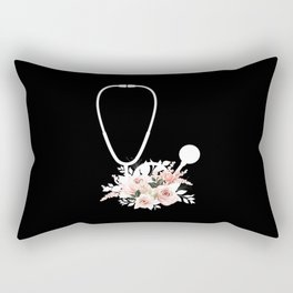 Doctor Gift Floral Stethoscope Healthcare Workers Rectangular Pillow