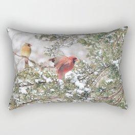 Red Cardinal Rising Rectangular Pillow