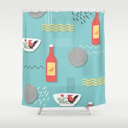 Bakso Djakarta Shower Curtain