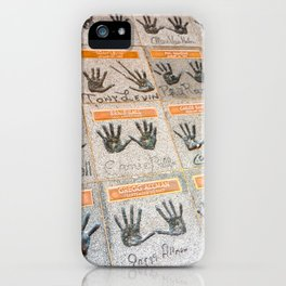 Hollywood hands iPhone Case