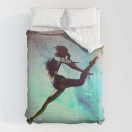 Ballet Dancer Feat Lady Dreams Abstract Art Comforters