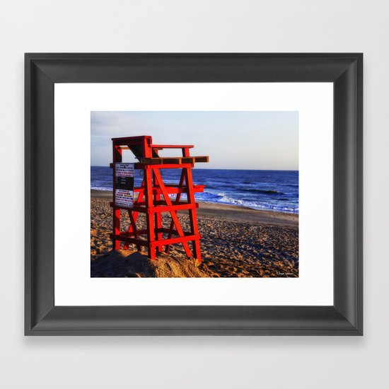 Beach Rules Framed Art Print