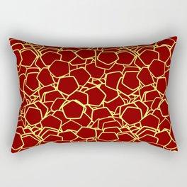 Random Polygons Midnight Lemon Rectangular Pillow