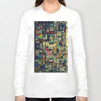 sticker Long Sleeve T-shirts featuring sticker by gzm_guvenc