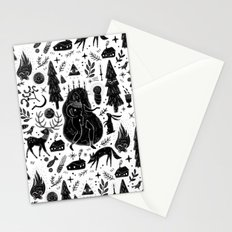 Yule, Birth of the Sun - Black Stationery Cards