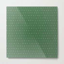 Geo Triangles Avacado Metal Print