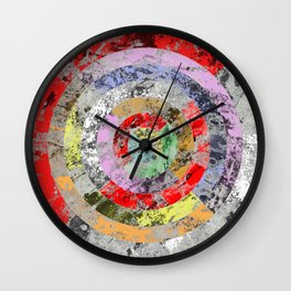 Textured Bullseye - Abstract, marble, pastel colours Wall Clock