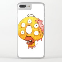 Donut Head Clear iPhone Case